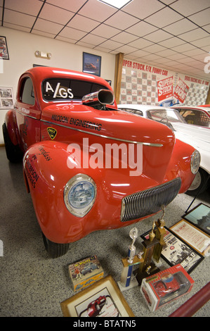 Don Garlits Museum of Drag Racing Ocala Florida K.S. Pittman 1941 Willys hot rod drag racer competed 1962 - Stock Photo