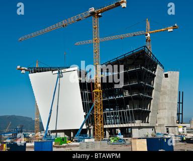 The new Titanic Museum under contruction in Belfast, Northern Ireland in October 2010 - Stock Photo