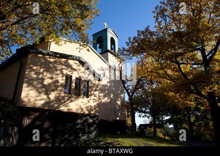 Brevik Church, Breviks kyrka, Lidingö (Sweden) - Stock Photo