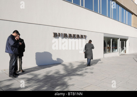 burberry store outlet xihk  Shoppers at the Burberry outlet store in Hackney, east London, UK