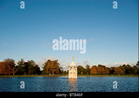 Diana Fountain in Bushy Park, Surrey, United Kingdom - Stock Photo