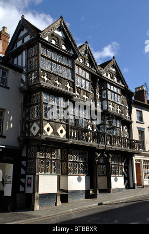 The Feathers Hotel, Ludlow, Shropshire, England, UK - Stock Photo