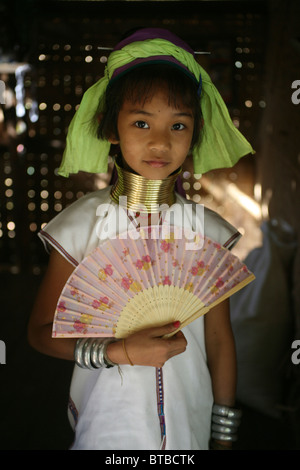 Karen tribe (longneck) in Thailand - Stock Photo