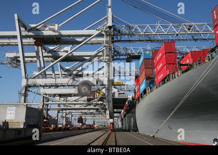 container transport in Holland - Stock Photo