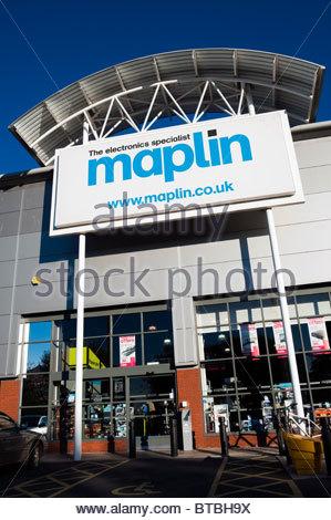 Maplin store in Hereford, UK. - Stock Photo