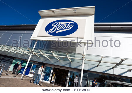 Boots store in the UK. - Stock Photo