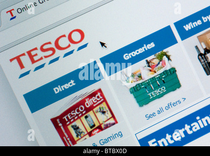 Tesco Home Delivery Detail Of Screenshot From Website Of Tesco Home Shopping And Delivery Service Stock Photo