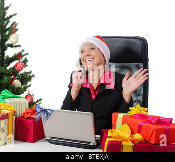 woman with gifts. - Stock Photo