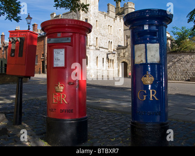 Letterboxes in Windsor Berkshire England - Stock Photo