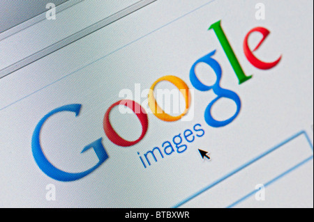 Screenshot from homepage of Google Images search website - Stock Photo