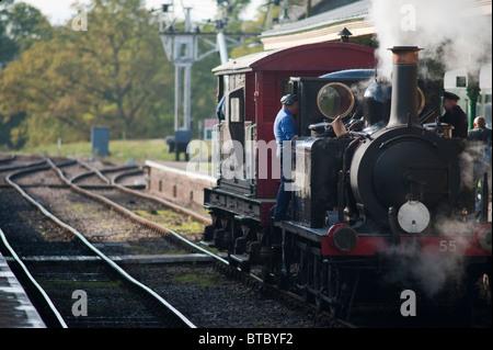 A1X  Class Locomotive 55 Stepney, Bluebell Railway, Sussex, England