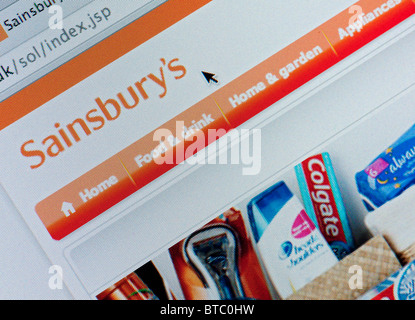 Detail Of Screenshot From Website Of Sainsbury S Home Shopping And Delivery Service Stock Photo