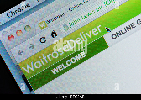Detail Of Screenshot From Website Of Waitrose Home Shopping And Delivery Service Stock Photo