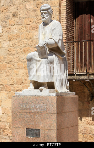 Monument to the Andalusian Muslim polymath Averroes (1126-1198) in Cordoba, Spain - Stock Photo