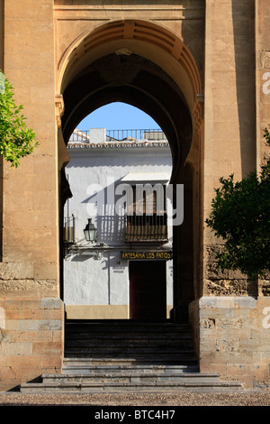 Medieval entrance gate of the Mosque-Cathedral of Cordoba, Spain - Stock Photo