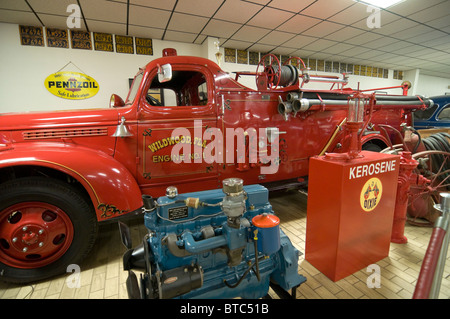 Don Garlits Museum of Classic Automobiles Ocala Florida vintage red fire truck - Stock Photo