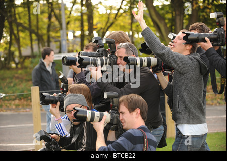 A pack of Sports photographers. - Stock Photo