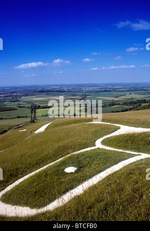 Uffington White Horse - Stock Photo