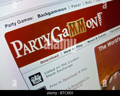 Detail of screenshot from online backgammon  website PartyGammon - Stock Photo