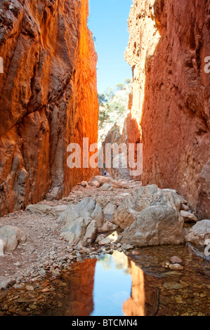 Simpson Gap, near Alice Springs, West Macdonnell Ranges Northern Territory Australia - Stock Photo