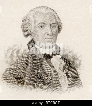 Georges-Louis Leclerc, Comte de Buffon, 1707 to 1788. French naturalist, mathematician, cosmologist, and encyclopedic - Stock Photo