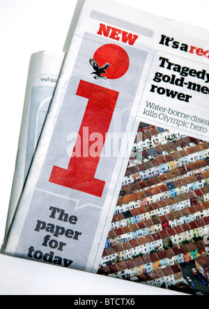 Independent launches new 20p newspaper 'i' - Stock Photo