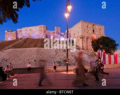 The citadel ( castle ) of Aleppo, Syria - Stock Photo