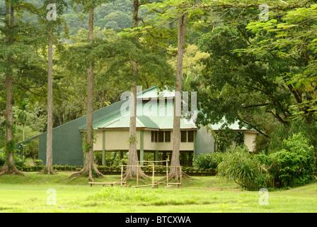 The visitors center at Lancetilla Botanical Garden, Honduras - Stock Photo
