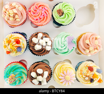 Boxed Cupcakes - Stock Photo