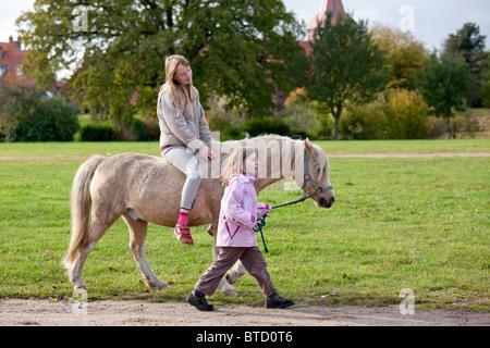 Riding Small Pony