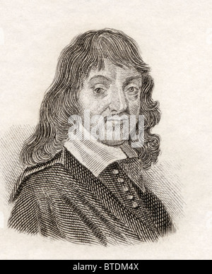 René Descartes, 1596 to 1650. French philosopher, mathematician, physicist and writer. - Stock Photo