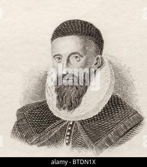 John Napier of Merchiston, 8th Laird of Merchistoun, 1550 to 1617. Scottish mathematician, - Stock Photo