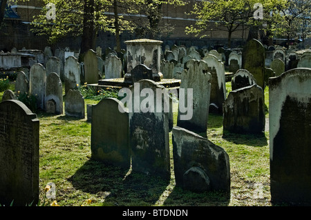 Bunhill Fields Burial Ground,London. - Stock Photo