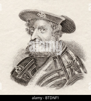 Claudius Ptolemaeus, or Ptolemy, c. AD 90 to c.168. Roman mathematician, astronomer, geographer and astrologer. - Stock Photo