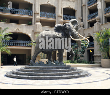 Sculpture of Shawu, one of the Kruger National Parks magnificent seven elephants,  in the courtyard of the Lost - Stock Photo