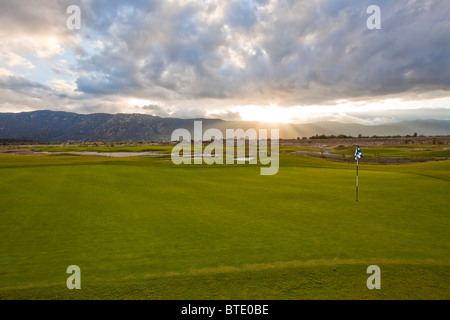 links golf course green in california - Stock Photo