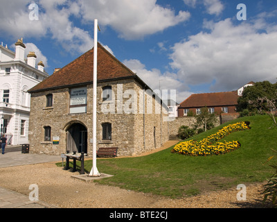 Maritime museum Southampton Hampshire England UK original The Wool House built in 1417 as a warehouse for wool trade - Stock Photo