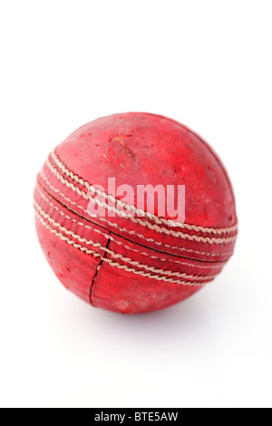 A cricket ball. - Stock Photo