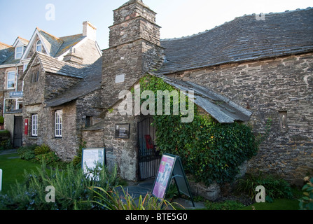 The old Post Office in Tintagel town, Cornwall, England, UK - Stock Photo