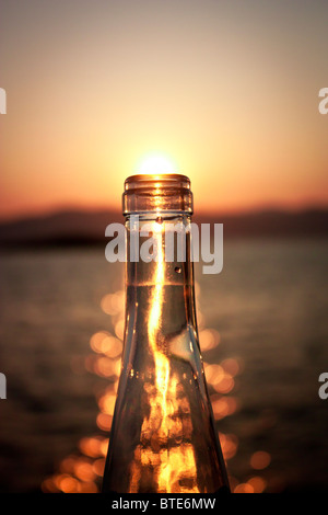 Palma, Spain. Bottling up the last bit of daylight - Stock Photo