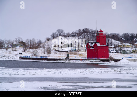 The Big Red - Lighthouse in Holland, Michigan Stock Photo
