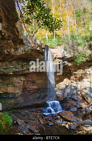 Cucumber Falls in Ohiopyle state park in Pennsylvania - Stock Photo
