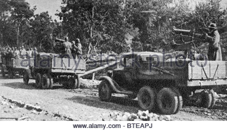 Red Army forces head for Grodno, 1939 - Stock Photo