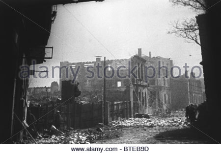 Ruins of Kaliningrad in the aftermath of war, 1945 - Stock Photo