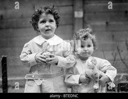 The 'Titanic Orphans' Michel (left) + Edmond (right) Navratil - famous survivors of the Titanic disaster in 1912. - Stock Photo