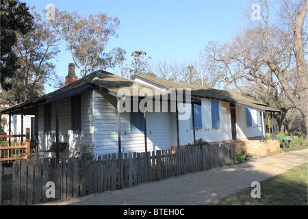Governor La Trobe's Cottage, King's Domain, Melbourne, Victoria, Australia, Australasia - Stock Photo