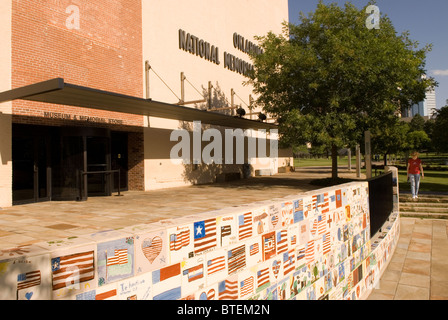 Oklahoma City National Memorial Museum Building and Drawings Oklahoma USA - Stock Photo
