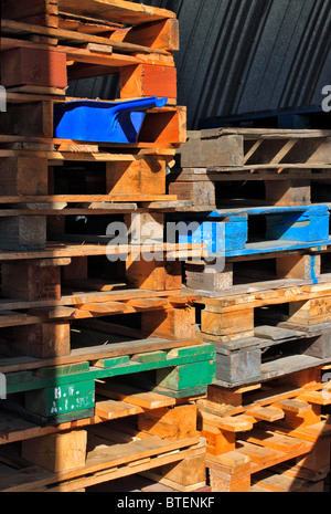 Wooden pallets - Stock Photo