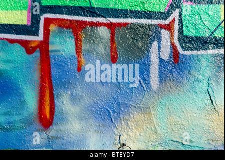 Detail of a graffiti / graffito in Munich, Germany - Stock Photo