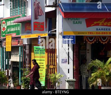 The Anita Sari Wedding Silk shop sells hand made silk saris in the ethnic Indian district of Georgetown, Penang, Malaysia.